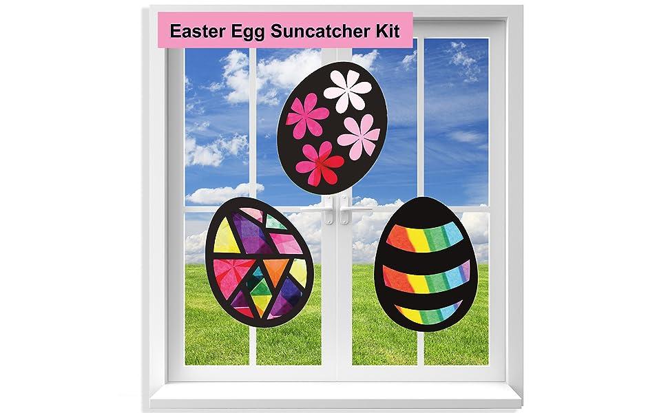Glass Suncatcher Easter Egg Suncatcher Fused Glass Egg Medium Patchwork Fused  Glass Easter Egg Easter Sun Catcher Spring Sun Catcher