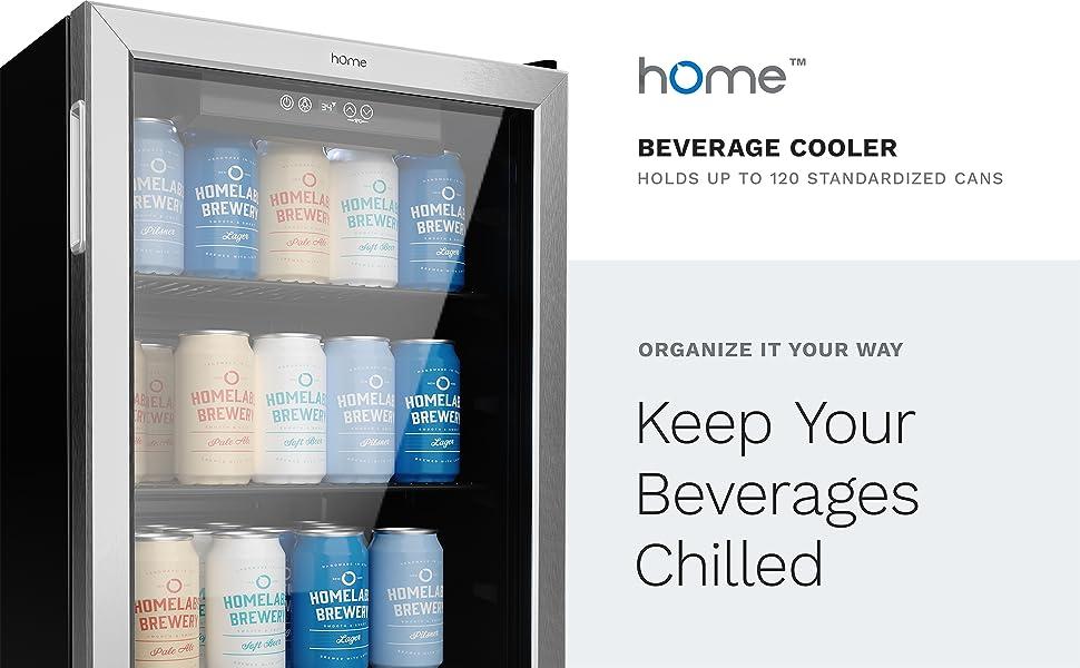 hOmelabs beverage cooler 120 can