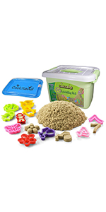 CoolSand Deluxe Bucket Learning Edition Play Sand Kit for Kids