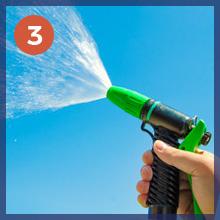 rinse clean water clear water plantings windows