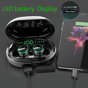 3500mAh charging case led battery display