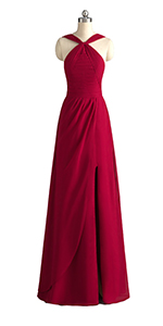 bridesmaid dress with slit