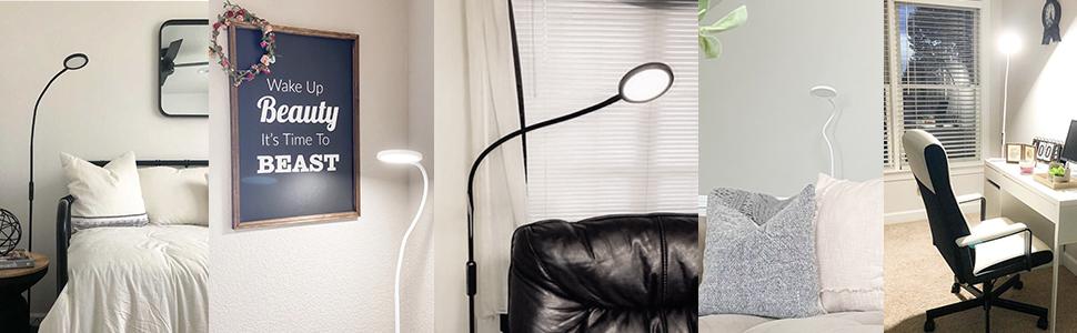 led reading floor lamp for bedroom
