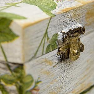 Creative Deco XXL Gris Grande Caja de Madera para Juguetes | 40 x 30 x 24 cm (+/-1cm) | con Tapa Cofre para Decorar | para Almacenar Documentos, ...