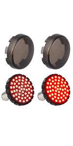 Harley Motorcycle Bullet Rear Turn Signals 2 inch Bullet Braking Light