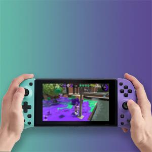 Nintendo-Switch-Jon-Con-Controller-Purple-Green-rechargerable
