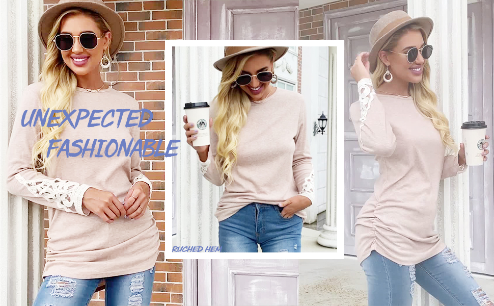 long sleeve tunic tops for women