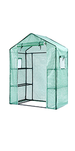 ohuhu 3-Tier 6-Shelf Stands Greenhouse, Green House for Seedling, Flowers, Plant Growing