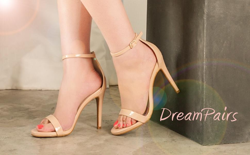 DREAM PAIRS Women's Stiletto Ankle Strap High Heels Sandals Party Shoes:  Amazon.co.uk: Shoes & Bags