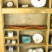 Mystic Self Orange Carnelian Bracelet Gemstone Beaded Crystal Healing Chakra Birthstone Jewelry Girl