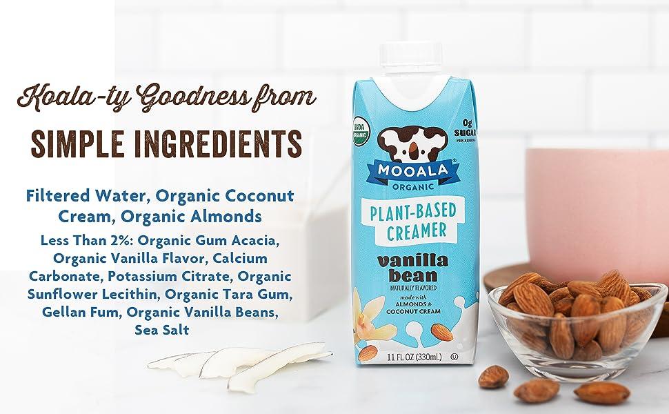 simple ingredients, almonds, coconut cream, calcium, potassium, organic, cinnamon