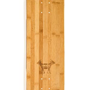 5 Layers for Aware 7-ply Hybrid Skateboard Deck 8.5x32.5 with 2 Layers Bamboo