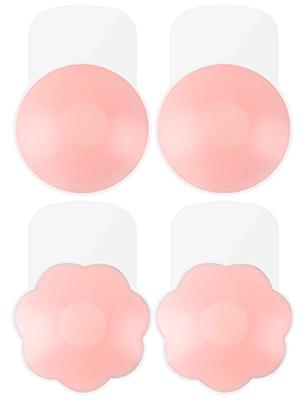 Rakaraka Stick On Bra Adhesive Bra Invisible Silicone Bra Breast Lift Tape Push Up Pasties Strapless Nipple Covers Invisible Reusable Backless Sticky Bra