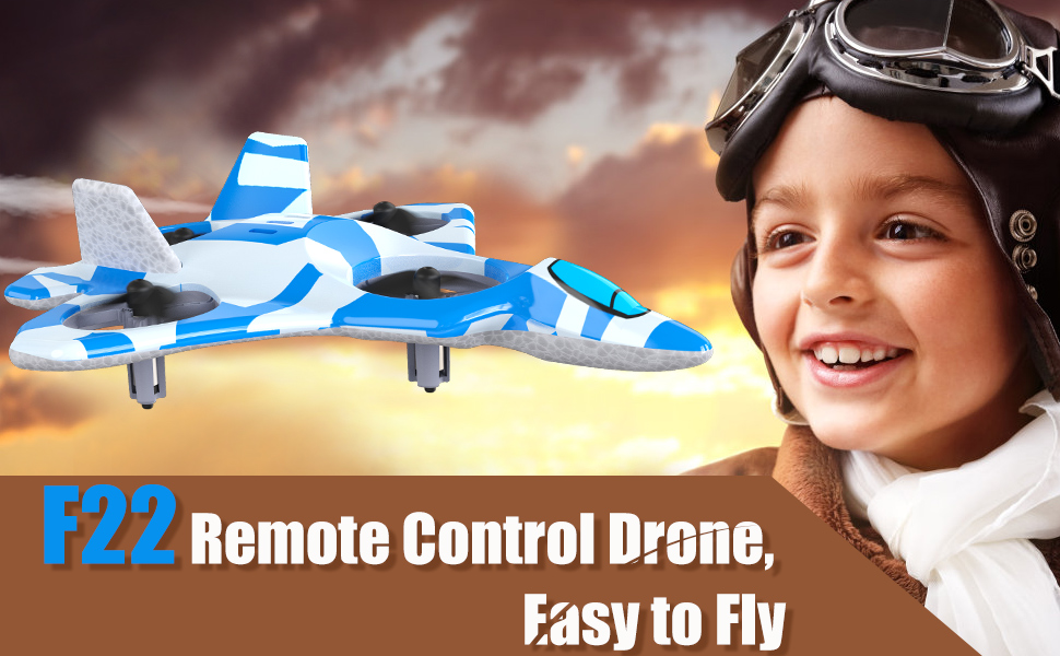Mayceyee F22 Drone for Kids and Beginner_Blue_1