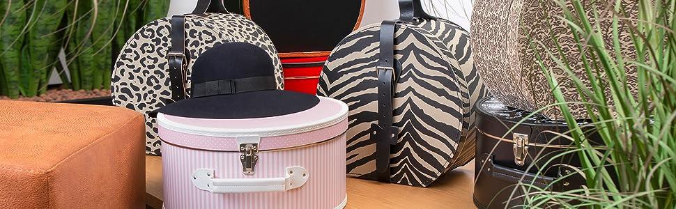 Hutkoffer Hutbox Hutschachtel Hüte Aufbewahrung Deko Box Schachtel Koffer Hut Pflege aufbewahren