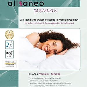 allsaneo premium Encasing Deckenbezug 135x200 cm Allergiker Milben Bettwäsche
