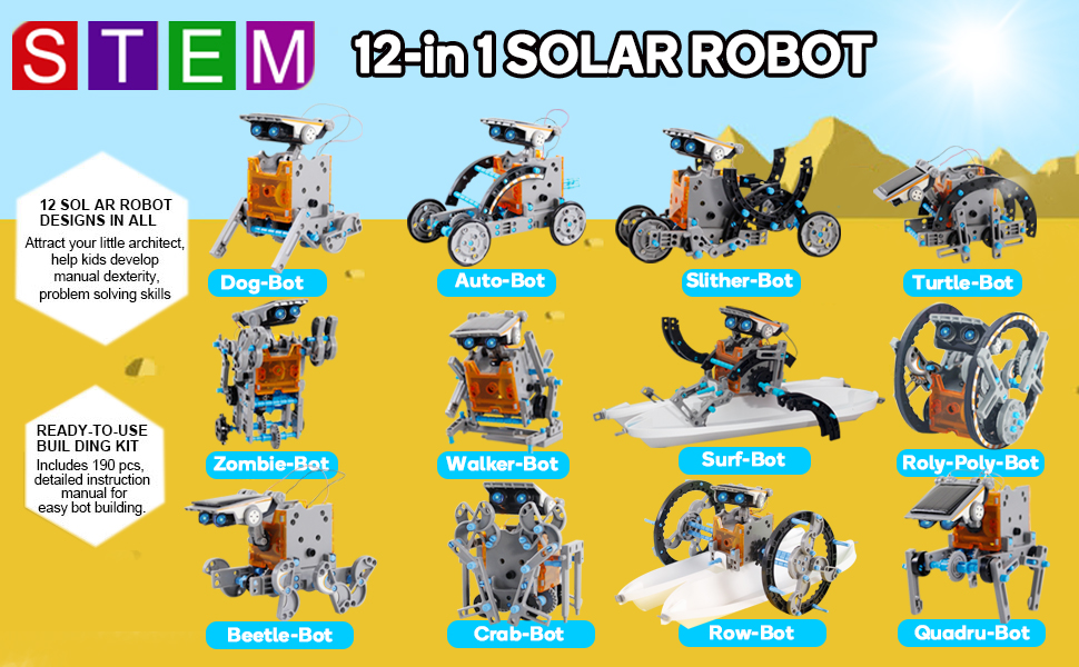 solar robot toy_gifts for 10+years old boy