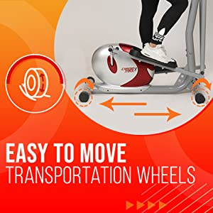 easy to move transportation wheels cardio trainer
