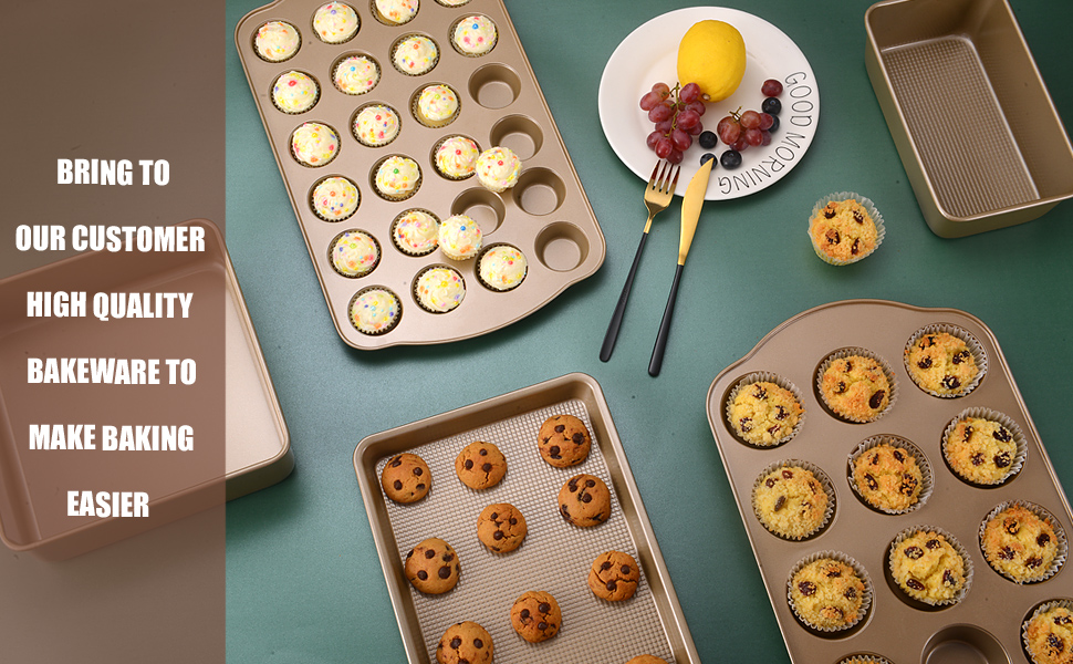 baking sheets for oven nonstick baking pan set heavy duty cookie sheet for baking cookie trays