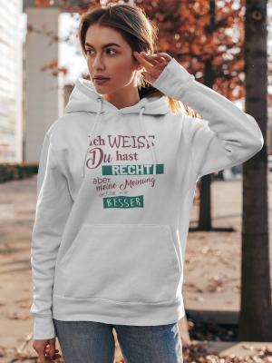 Print-Pulli Damen Hoodie Chill mal Deine Base Comedy Shirts K/ängurutasche Langarm Kapuze
