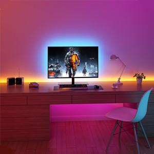 strip lights led remote control bedroom waterproof 16.4ft color MINGER bar bed lights cheap home rgb