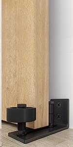 Pull and flush barn door handle