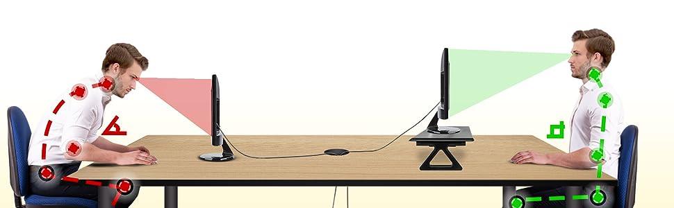 mesa elevadora monitor