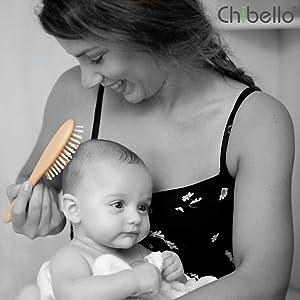 wooden baby brush baby comb and brush set baby hair brush set