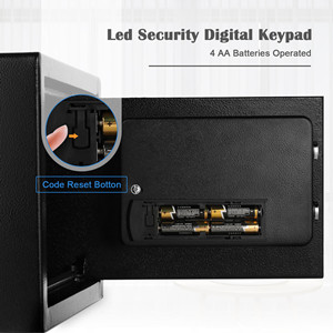 mountable safe  BATHWA Digital Electronic Safe Security Box, Steel Deposit Safe for Home & Office, Cabinet Safe with Keypad for Jewellery Money Valuables, Wall-Anchoring Design, 0.7 Cubic Feet Capacity c7f64c31 48fd 407d 8714 34698257b6a1