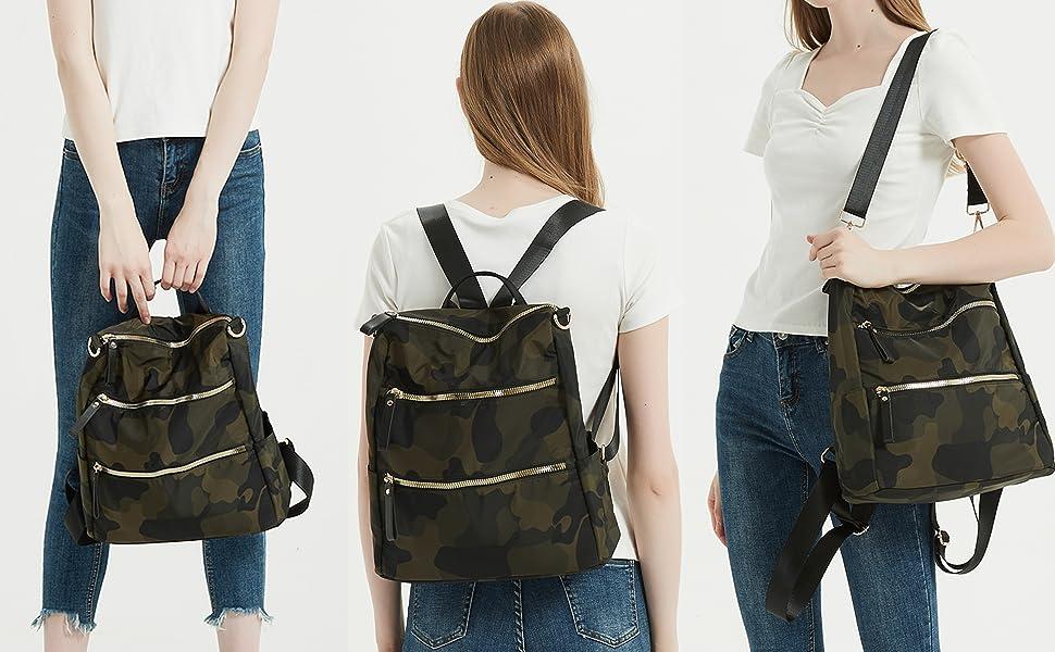 women backpack travel