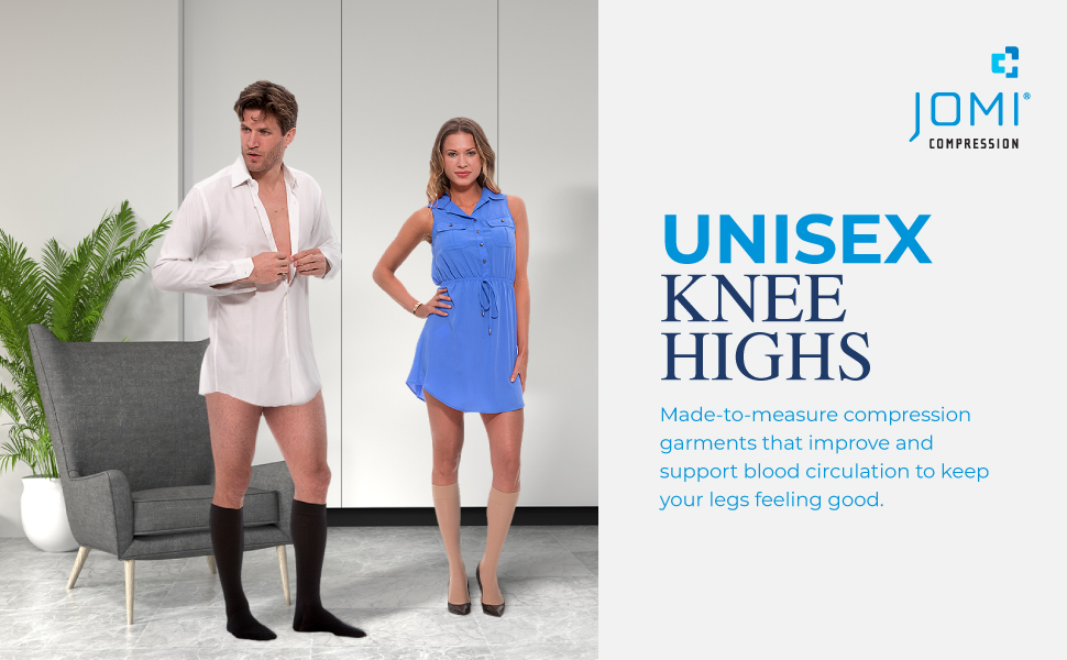 jomi knee high compression stockings 20-30 10-15 30-40 8-10 mmhg women socks hose tights toe less