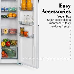 American fridge, vegan box, fresh box, universal blue, large capacity, design