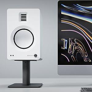Matte white tuk next to iMac