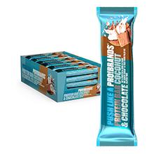 Probrands - Barra cubierta de chocolate con alto contenido de proteínas (38%) con sabor de caramelo, sin azúcar añadido y sin aceite de palma, 45gx24 ...
