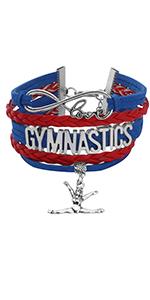 Gymnastics Jewelry Gymnastics Infinity Love Bracelet Girl Gymnastics Gift Ideas for Gymnasts