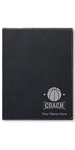 faux leather large portfolio notepad