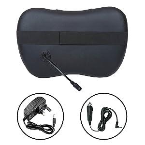Massager Neck and Back Shiatsu Massage Pillow with Heat Deep Tissue Kneading Cushion 8