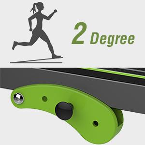 Degree 2---10° The degree of tilt is relatively lower than Incline Degree 1