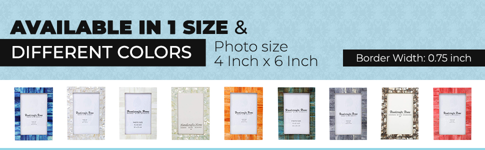"""SPN-T2G Handicrafts Home Photo Picture Frame - 4"""" x 6"""" Blue - Handmade Gift - Pack of 2 Pinewood"""
