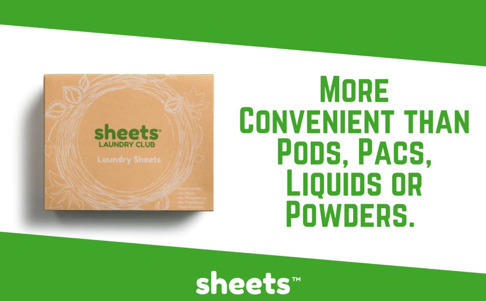 Laundry Sheets, Better Than Strips, Pods, Pacs , Liquid and Powders