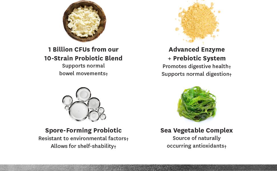 1 billion CFUs, Sea Vegetable Complex, Spore Forming Probiotic