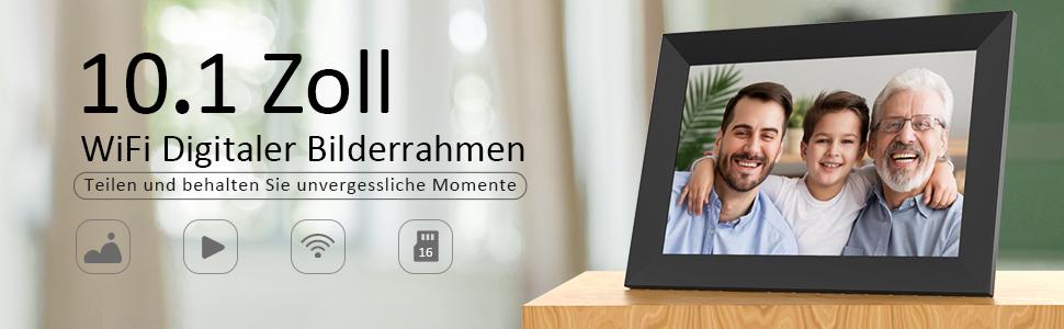 Wecker U Disk Foto /& Video Teilen /über Speicherkarte Schwarz-Weiss Jeankak 7 Zoll Digitaler Fotorahmen Laptop EU1 800X480 HD Elektronisches Album//Bilderrahmen mit K/öRpersensor Musikspieler