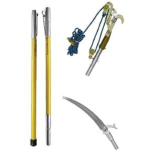 FG-6PKG-7, fiberglass pole, hollow core pole kit, tree trimming kit