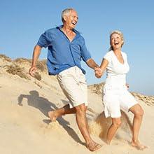 Senior couple enjoying health