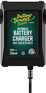 Battery Tender Junior 12V, 750mA Battery Charger and Maintainer