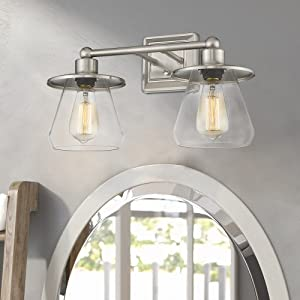 bathroom lights brushed nickel vanity lights hallway sconce stairwell light powder room wall lamp