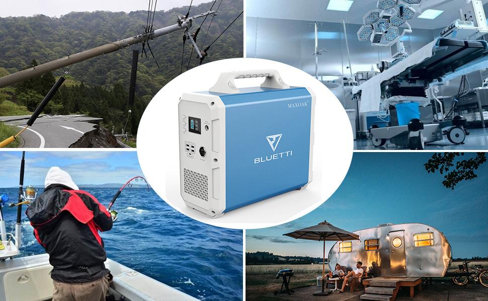 portable solar generator power station 1000w 1500wh bluetti