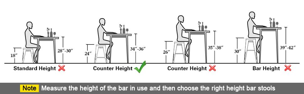 24 inch bar stools set
