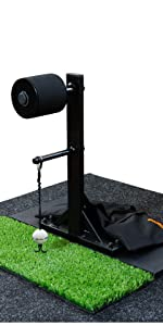 golf swing trainer with carpet mat