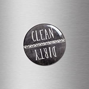 Clean Dirty Magnet Dishwasher Dishes Chores Sign Chalkboard